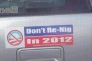 racist obama sticker