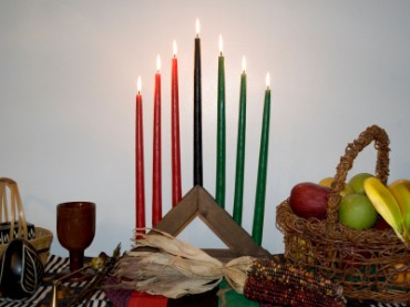 kwanzaa table candles