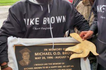 michael brown plaque